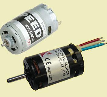 Bürstenmotor und Brushless-Motor